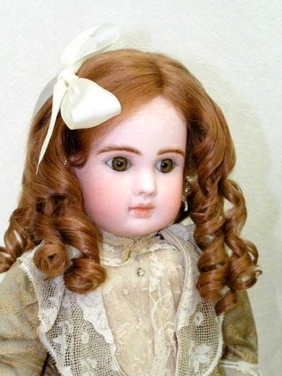 Old World Natural Mohair Doll Wigs